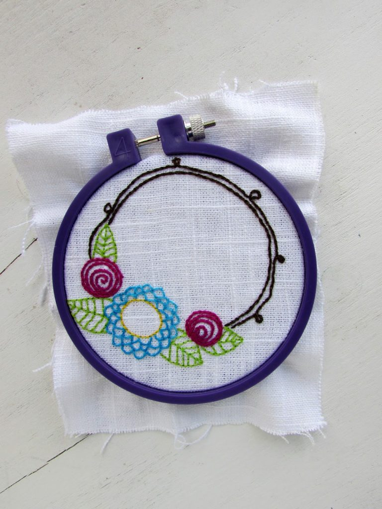 Flower Wreath Hand Embroidery Free Pattern Alivelyhope Com