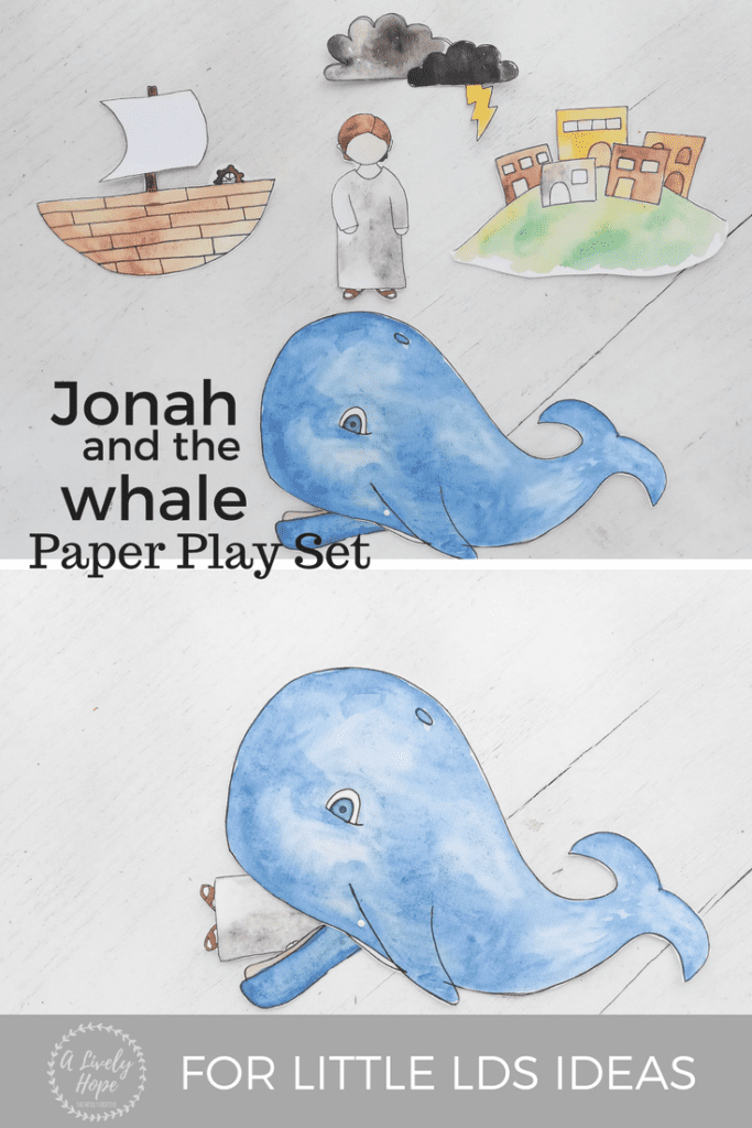 Jonah And The Whale Paper Play Set Free Printable Alivelyhope Com