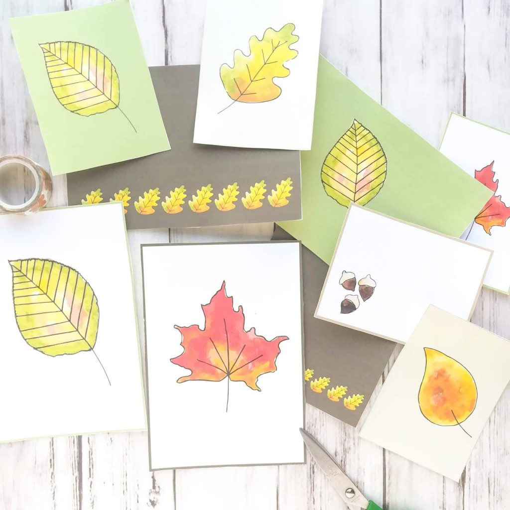 Autumn Leaf Journal Kit Free Printables Alivelyhope Com