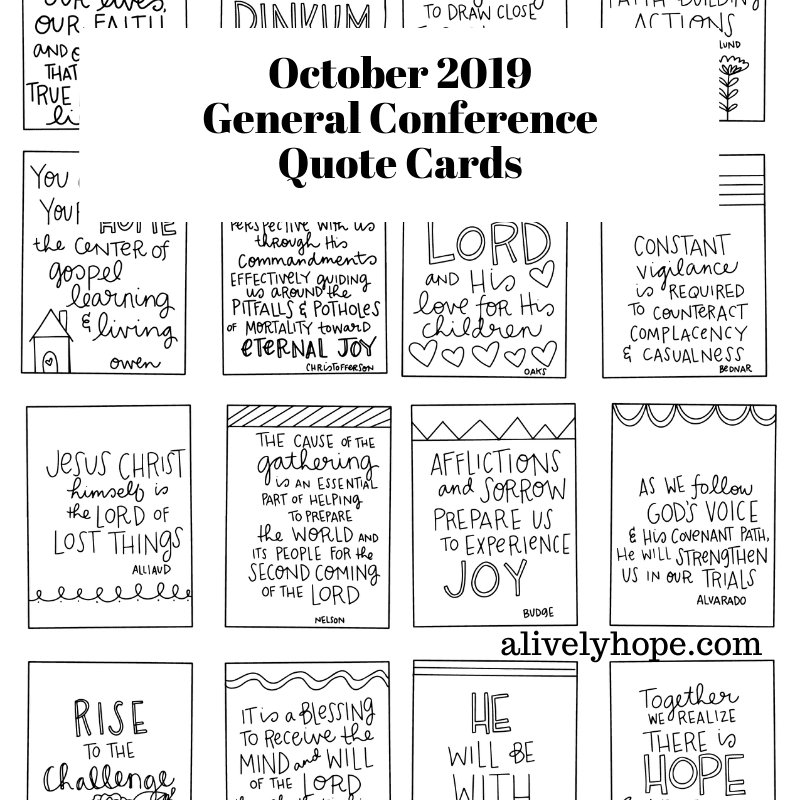 lds conference quote cards