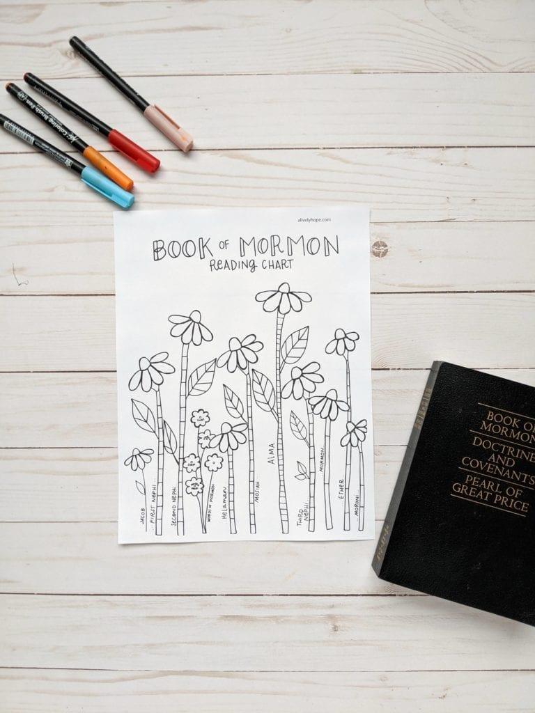 book-of-mormon-tracker-for-girls-flowers