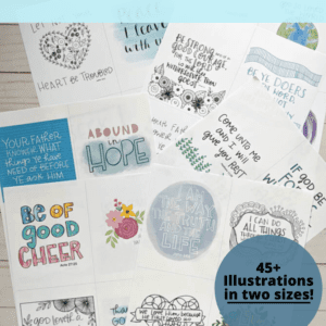 printable old and new testament sticker set